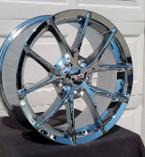 CHROME SPYDER STYLE WHEELS FOR C5 BASE & Z51 18/19 COMBO
