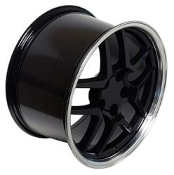 C5 Z06 STYLE BLACK/MACHINED LIP FITS C5 & C5 Z06 17/18 COMBO
