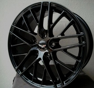 Corvette Gloss Black Spyder Style Wheels Fits Zr1