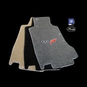 CORVETTE FLOOR MATS - C6 EMBLEM ONLY: 2005-2007 EARLY POST STYLE