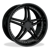 SR1 PERFORMANCE GLOSS BLACK DEEP DISH CLASSIC 5 STARS 18/19