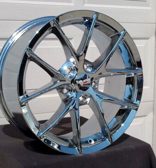 Corvette Chrome Spyder Style Wheels For C6