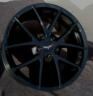 Corvette Gloss Black Spyders For C6 Base And Z51 Wheels