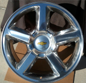 "CHEVY TAHOE 20"" POLISHED WHEELS"