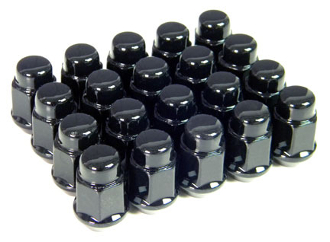 BLACK LUG NUTS FULL SET