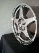 C4 ZR1 HIGH POLISHED CORVETTE WHEELS STAGGERED 17X9.5 & 17X11