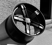CAMARO IROC Z STYLE WHEELS SATIN BLACK 20X10/20X11