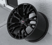 GLOSS BLACK C7 Z06 STYLE WHEELS FOR C6 18/19 COMBO